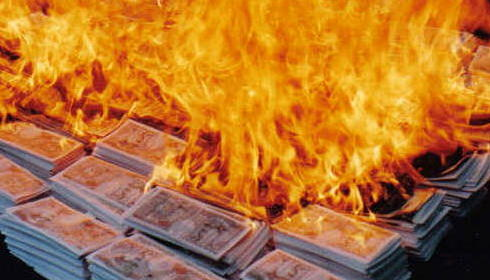 Military spending: your money up in flames