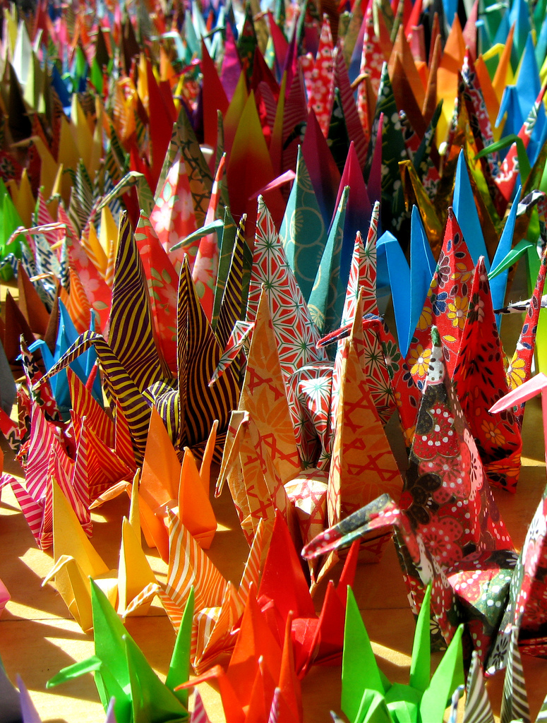 Paper Flock by Jacy Ippolito 2006