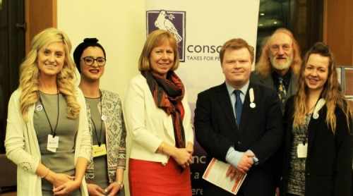 Ruth Cadbury MP with the Conscience team